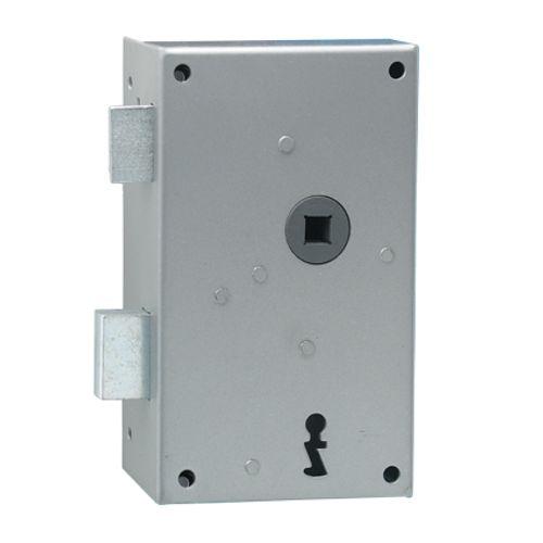 Serrure à appliquer verticale main gauche Sencys 'M980' acier gris 57 x 50 mm