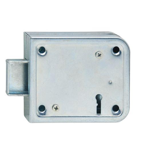 Serrure à appliquer horizontale G/D Sencys 'M986' acier gris 70 mm