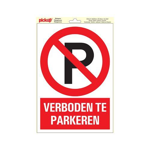 "Pickup sticker ""verboden te parkeren"" 23x33cm"