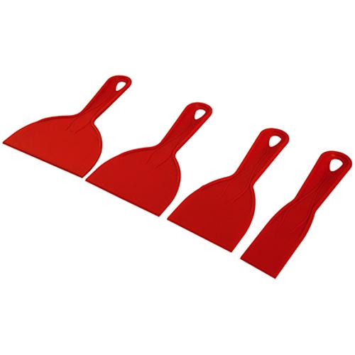 Far Tools plamuurmes kunststof - 4 stuks