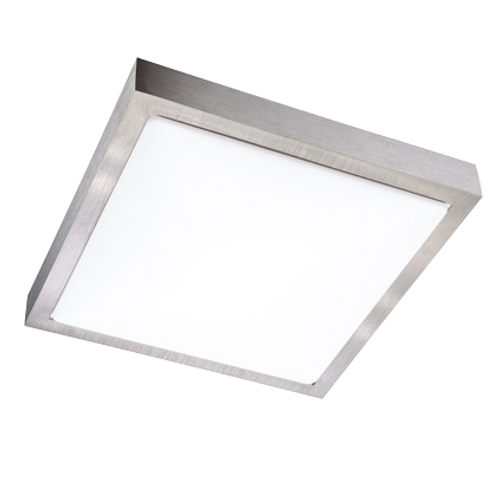 Wofi plafondlamp 'Mila' 1x10W nikkel LED