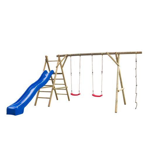 SwingKing speelset Noortje 375x450x220cm blauw