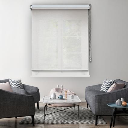 Madeco rolgordijn 'Must' lichtdoorlatend wit 80 x 250 cm