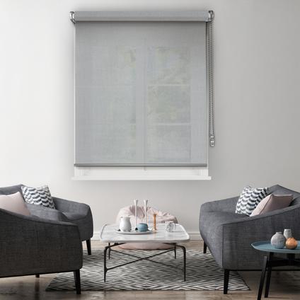 Store enrouleur Madeco 'Must' tamisant motorisable gris clair 90 x 250 cm