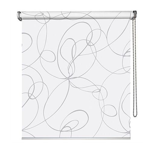 Store enrouleur Madeco 'Must Zig Zag' tamisant blanc/gris 70 x 190 cm