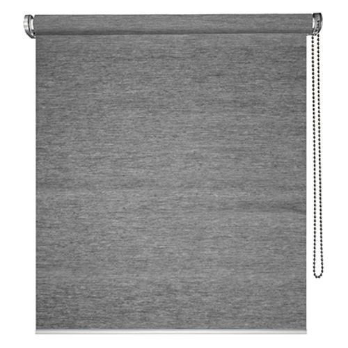 Store enrouleur Madeco 'Voile Straight Must' tamisant motorisable gris 60 x 190 cm