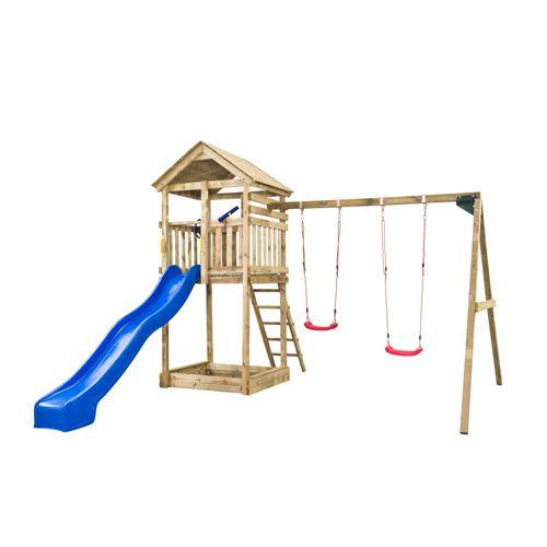 SwingKing speeltoren Daan met glijbaan 400x320x420cm
