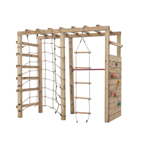 Portique d'escalade Swing King 'Bokito' bois 240 x 120 cm