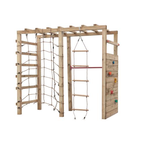 Portique d'escalade Swing King 'Bokito' bois 240 x 120 cm