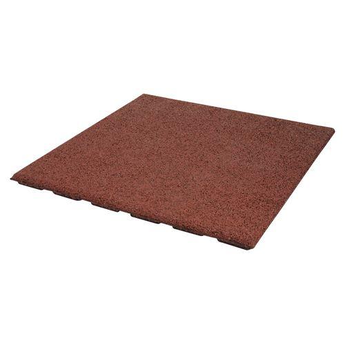 Decor rubberen tegel rood 50 x 50cm 0,25m²