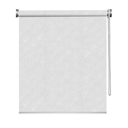 Store enrouleur Madeco 'Must' occultant paillettes blanc 120 x 190 cm