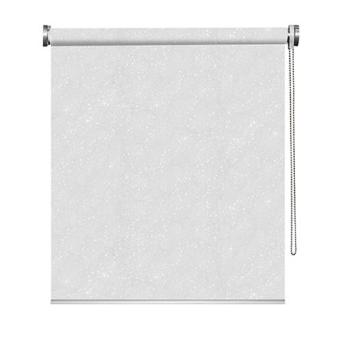 Store enrouleur Madeco 'Must' occultant paillettes blanc 150 x 190 cm