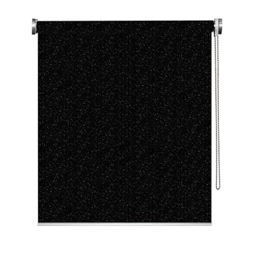 Store enrouleur Madeco 'Must' occultant paillettes noir 100 x 190 cm