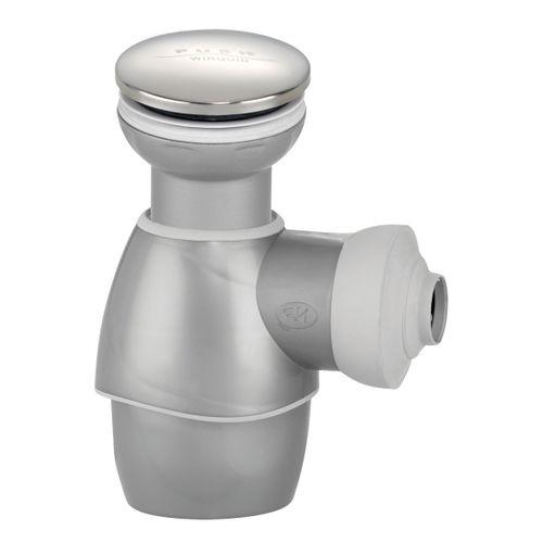 Bonde de lavabo Wirquin tout-en-un gris métal