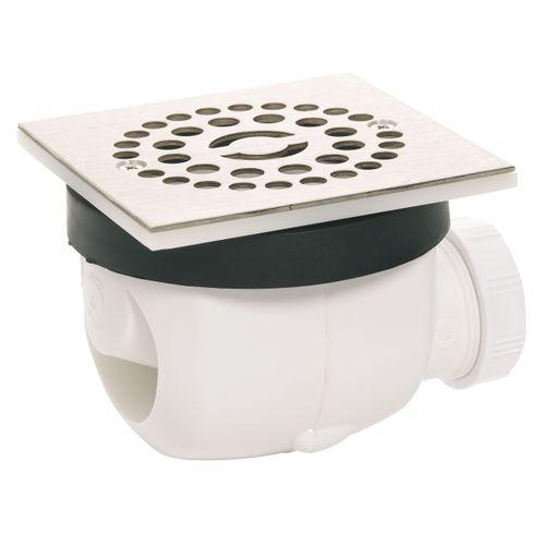 Wirquin doucheafvoer Twisto vierkant Ø90mm geborsteld RVS