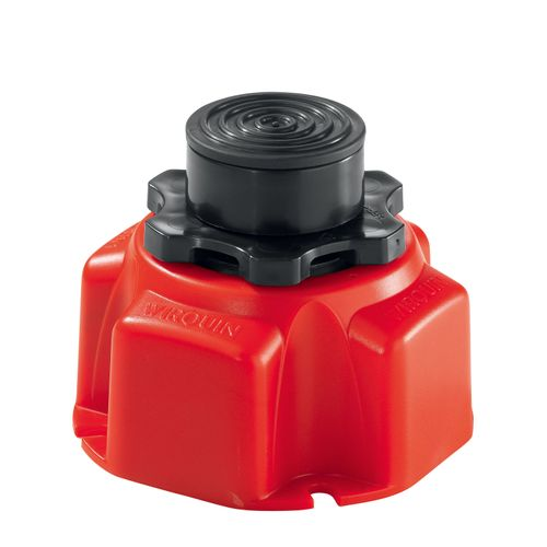 Wirquin 4 poten voor douchebak rood/zwart