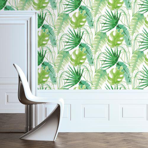 Papier peint intissé ELLE Jungle fever vert