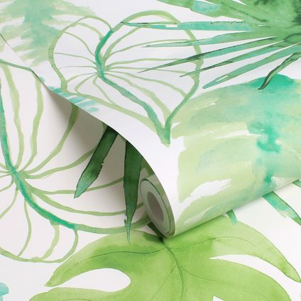 ELLE vliesbehang Jungle fever groen