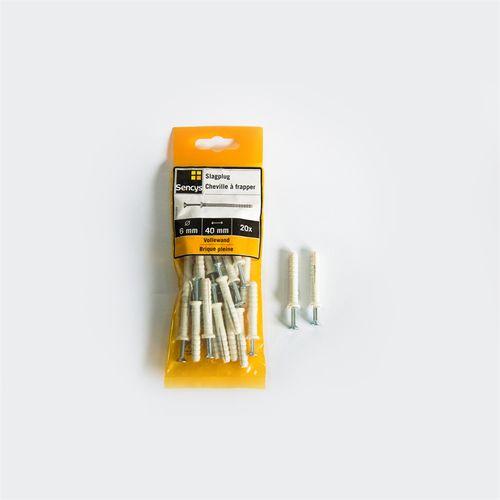 Sencys slagplug OB59 6 x 40mm 20 stuks