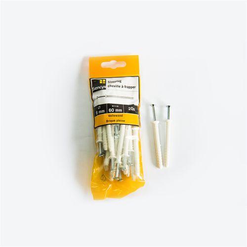 Sencys slagplug OB60 6 x 60mm 20 stuks