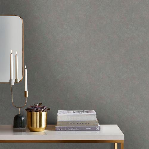 Papier peint intissé ELLE Velvet de luxe gris
