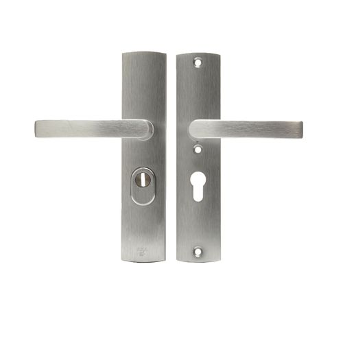 AXA veiligheidsbeslag Curve aluminium kruk 55mm