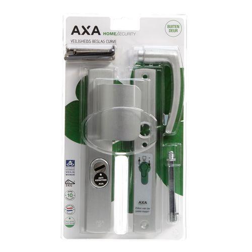 AXA veiligheidsbeslag Curve aluminium 55mm