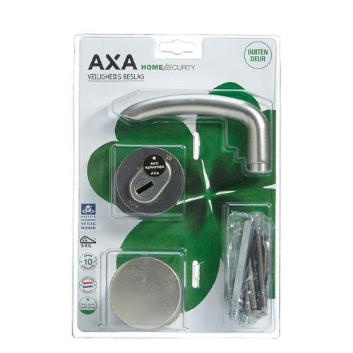 AXA veiligheidsbeslag kruk knop aluminium RVS