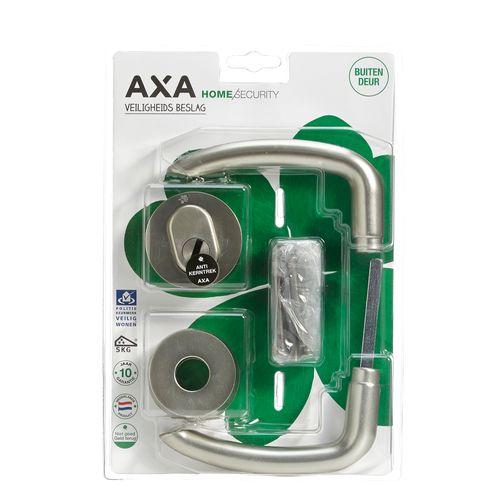 AXA veiligheidsbeslag kruk + cilinder + rozet RVS