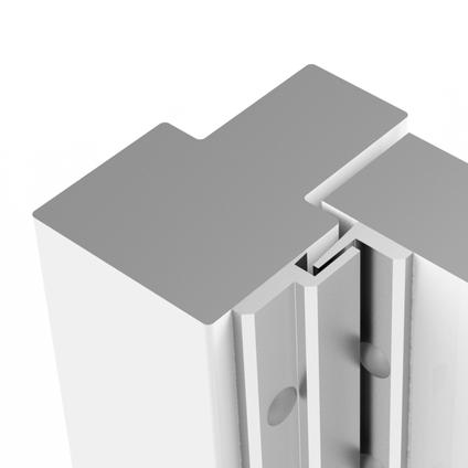 Axa veiligheids deurstrip M1 215cm aluminium SKG*