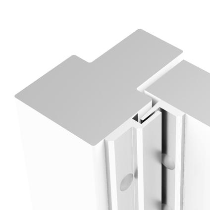 Axa veiligheids deurstrip M1 215cm wit SKG*