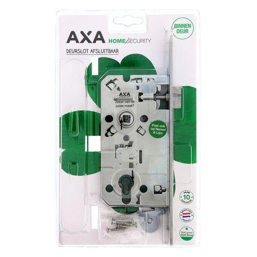 AXA dag-nachtslot + cilinder + voorplaat gegalvaniseer 72mm