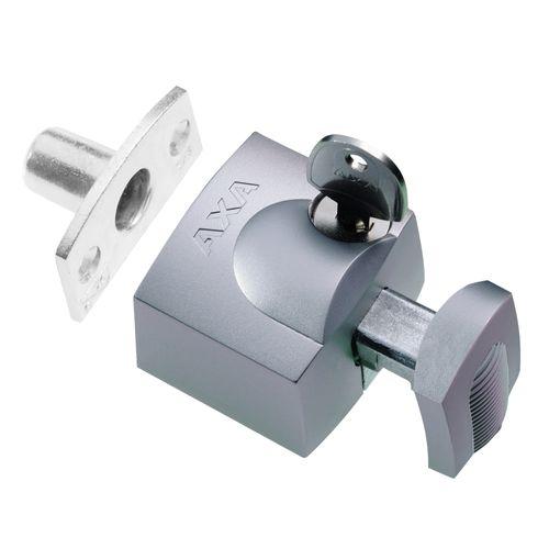 Axa oplegslot-set 3012 zilver