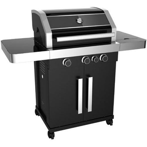 Central Park gasbarbecue Red rock 13,5kW zwart