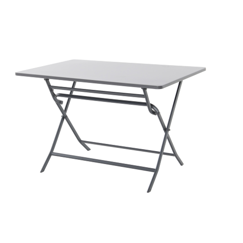 Table de bistrot Central Park Stacy anthracite acier 110x70cm