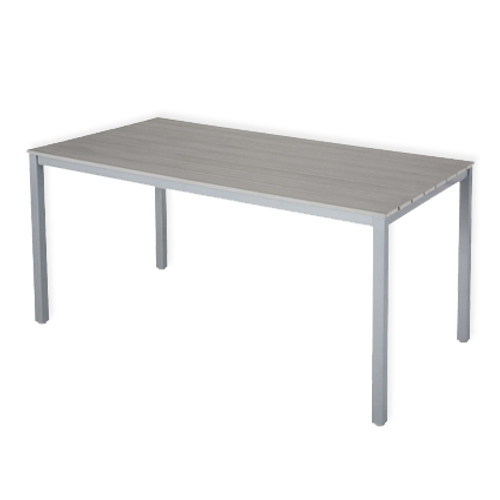 Table de jardin Central Park 'Cordanza' bois-acier gris 145 x 80 cm