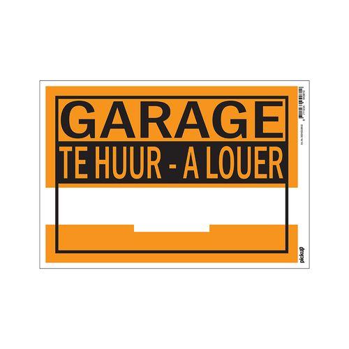 PickUp bord 'Garage te huur'