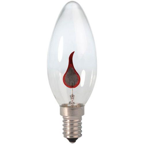 Calex Kaarslamp 240V 3W E14 flickervlam 35x100mm