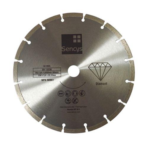 Disque à tronçonner Sencys diamant 230mm