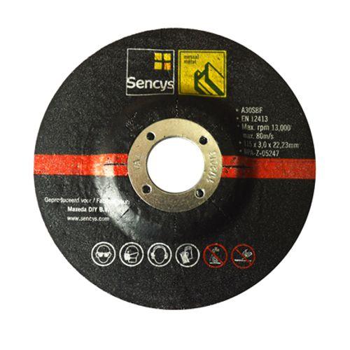 Disque à tronçonner Sencys pour métal 115mm - 2 pièces