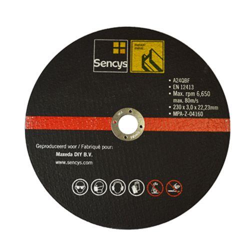 Disque à tronçonner Sencys pour métal 230mm - 2 pièces