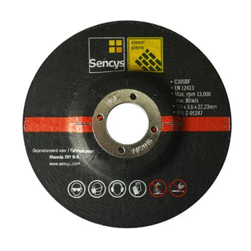Disque à tronçonner Sencys pour pierre 115mm - 2 pièces