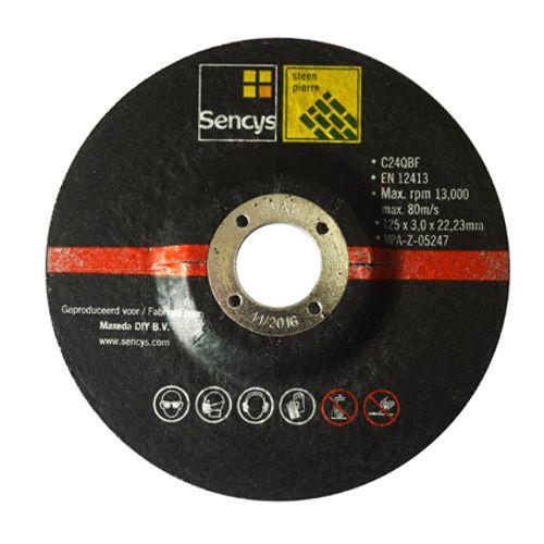 Disque à tronçonner Sencys pour pierre 125mm - 2 pièces
