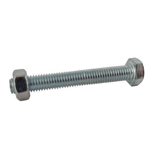 Sencys zeskantkop bout gegalvaniseerd staal M10 x 160 mm - 2 stuks