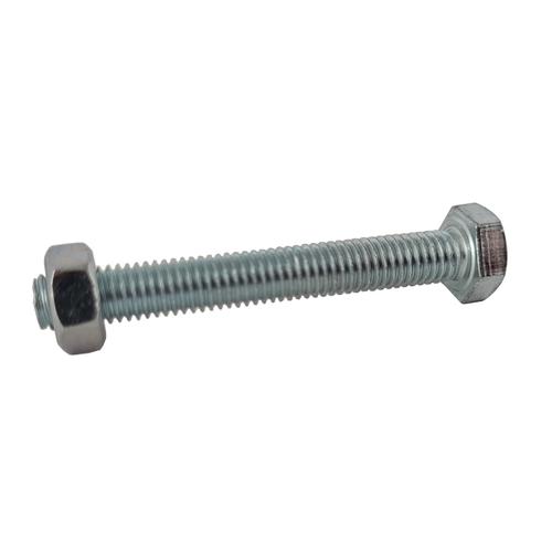 Sencys zeskantkop bout gegalvaniseerd staal M12 x 40 mm - 5 stuks
