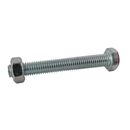 Sencys zeskantkop bout gegalvaniseerd staal M8 x 80 mm - 25 stuks