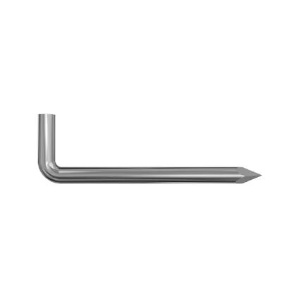 Gond à pointe Sencys strié acier galvanisé 4 x 40 mm - 10 pcs