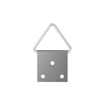 Attache pour tableaux Sencys acier laitonné 14 mm - 20 pcs