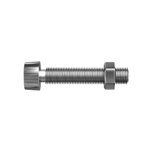 Sencys metaalschroef cilinderkop en moer gegalvaniseerd M4 12mm 20 stuks