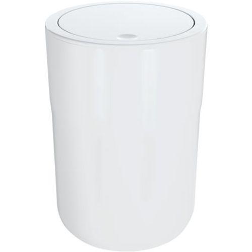 Poubelle Spirella 'Cocco' matière synthétique blanc 5 L